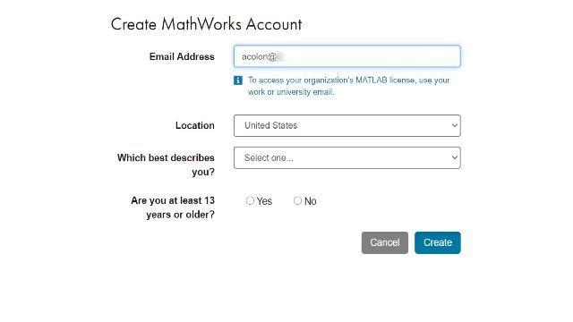 如果您所在的高校提供 Campus-Wide License 门户,请按以下步骤创建 MathWorks 帐户,然后开始安装。