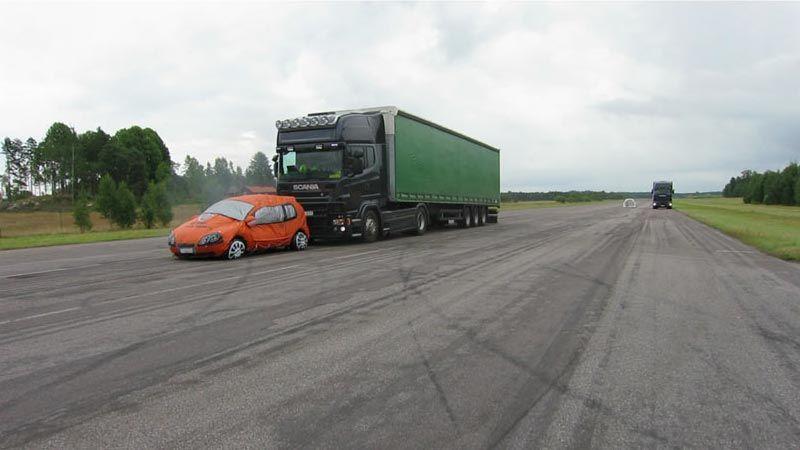 在 Scania 开发先进的紧急制动系统