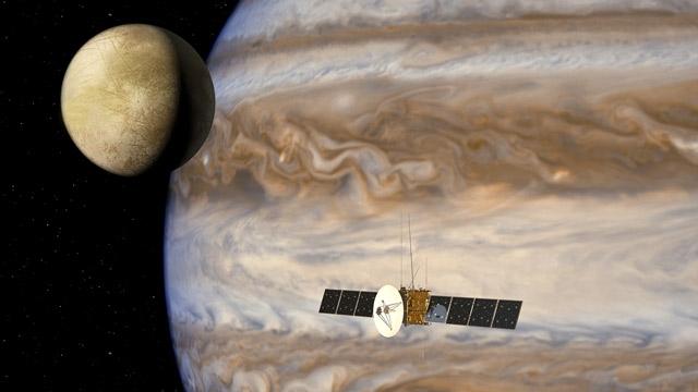"""空中客车防务与航天公司仿真""""木星冰卫星探测器""""任务的数据流"""
