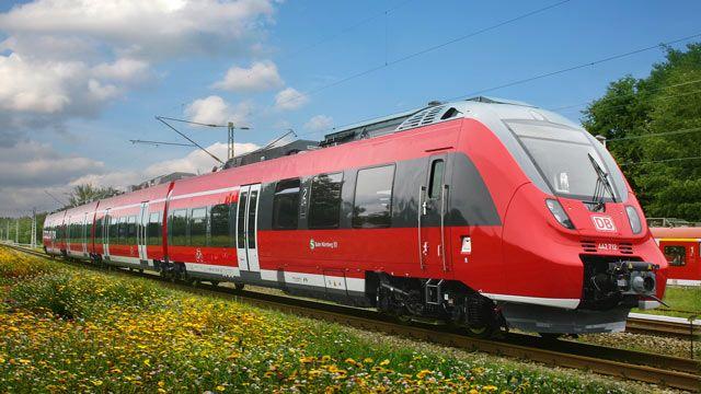 德国的庞巴迪火车。