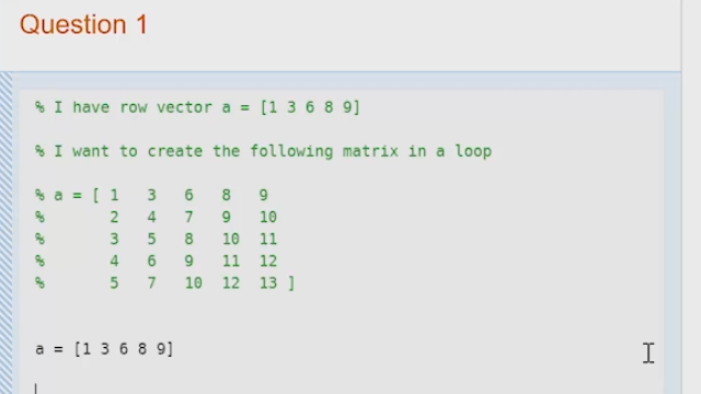 Reshape a matrix without using a for loop video matlab for Table 2 matrix matlab