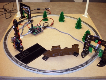 Figure 1. N scale train setup in the lab.