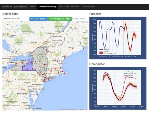 纽约州用于能源负载预测的预测分析应用程序。