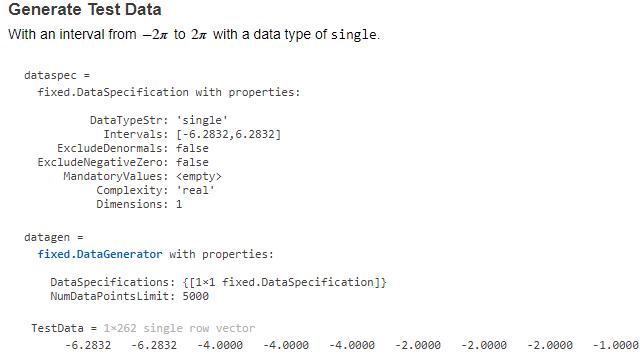 Data generator APIs.