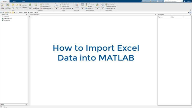 Learn how to import Excel data into MATLAB and create plots from this data.