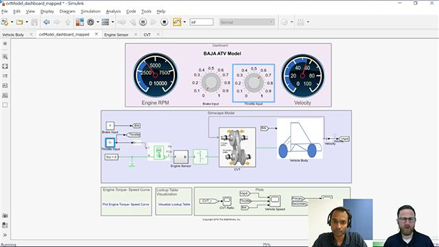 Join Veer Alakshendra and Christoph Hahn as they discuss modeling a vehicle with continuously variable transmission (CVT) relevant to automotive competitions such as BAJA.