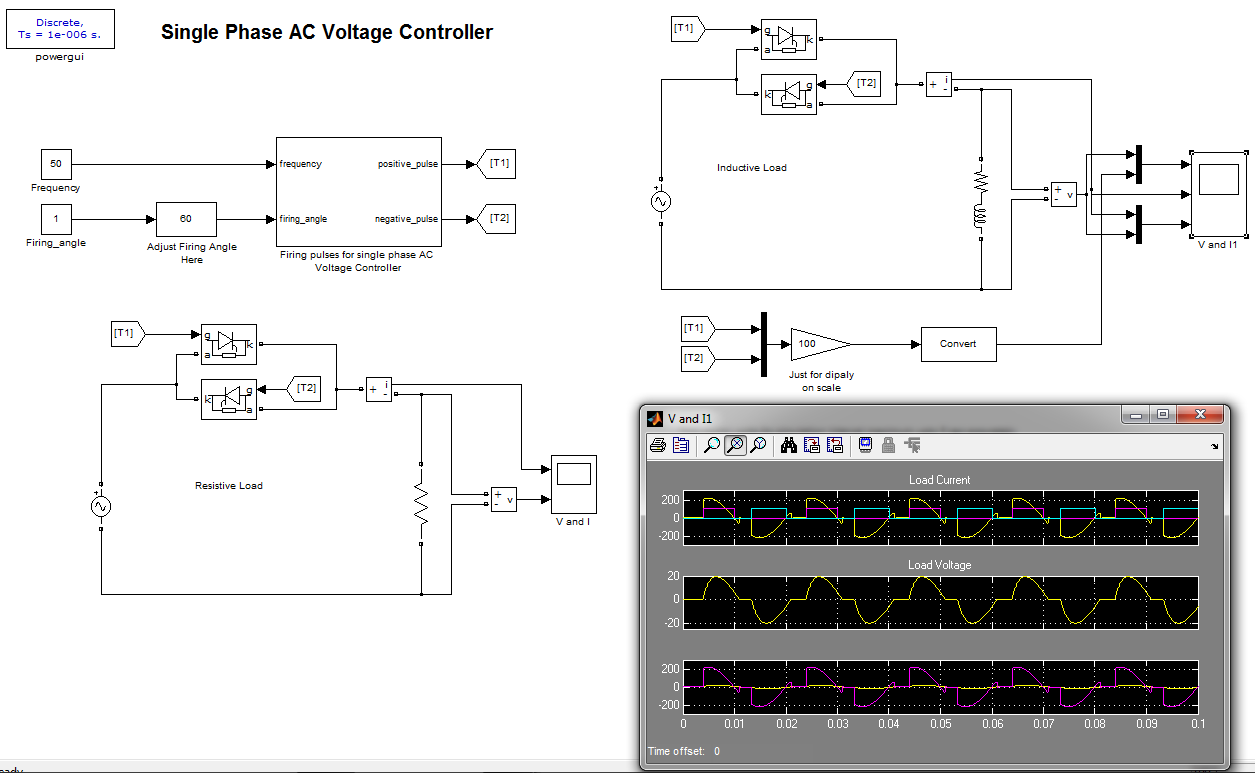 Single Phase Ac Voltage Controller File Exchange Matlab Central Electrical Wiring Image Thumbnail