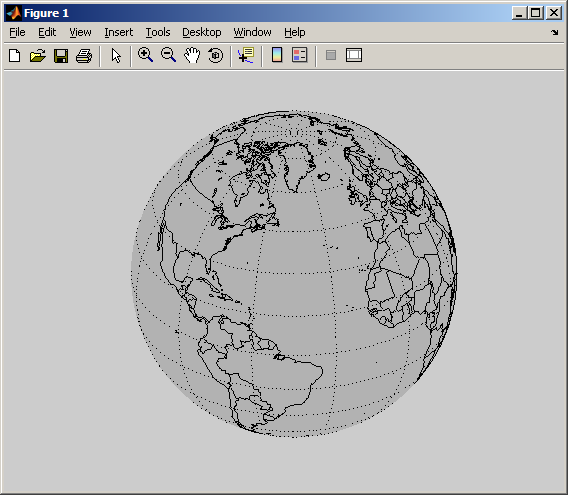 Matlab Mapping Toolbox EZGLOBE   easily plot a rotatable globe (Mapping Toolbox 2.x  Matlab Mapping Toolbox