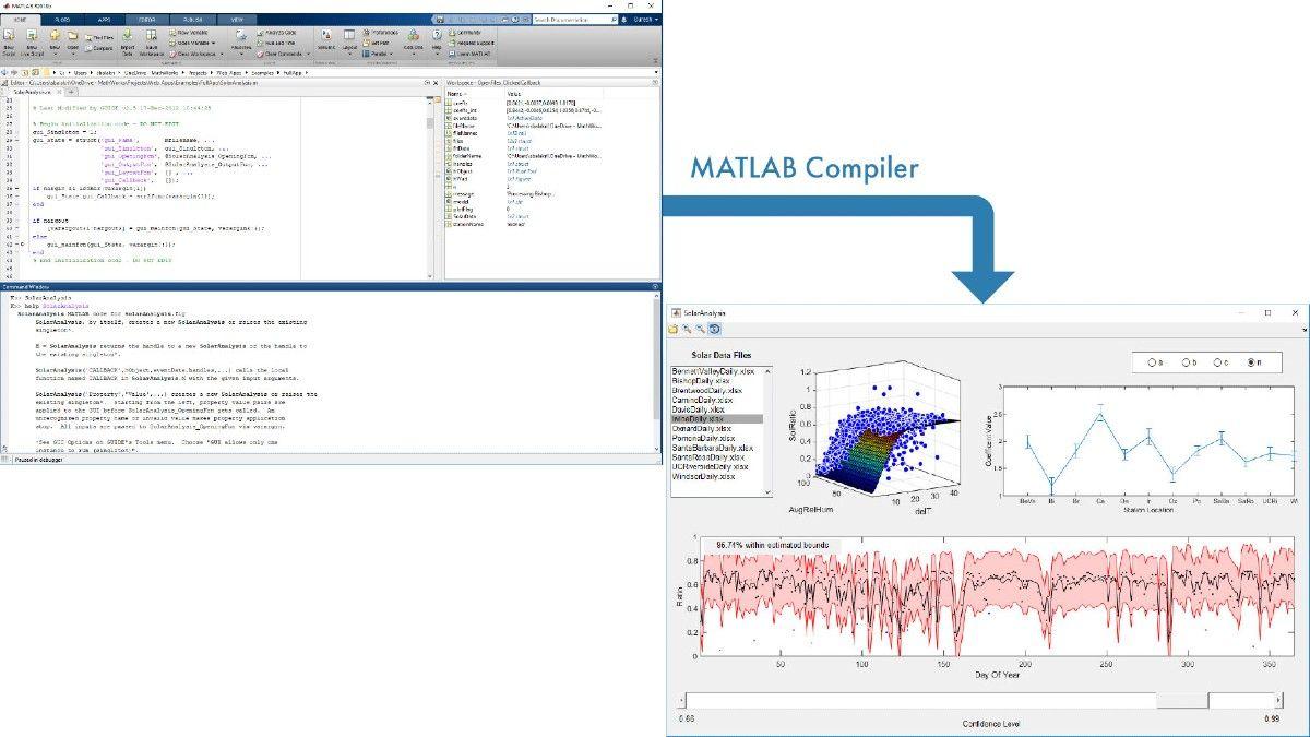 在 MATLAB 中创建日照分析应用程序,并使用 MATLAB Compiler 打包共享。
