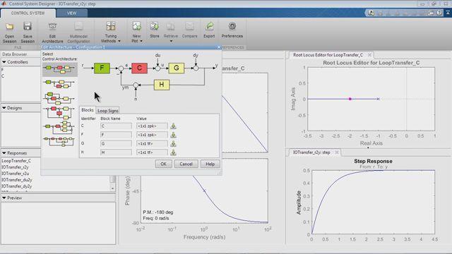 使用 SISO 设计工具进行控制系统的设计。