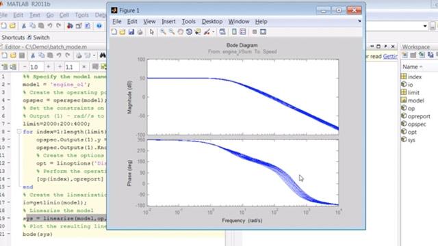 创建一个脚本,对 Simulink 模型进行修正和线性化批处理。