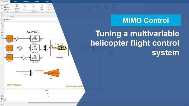 利用 Control System Tuner 应用程序自动调节多变量飞行控制系统。