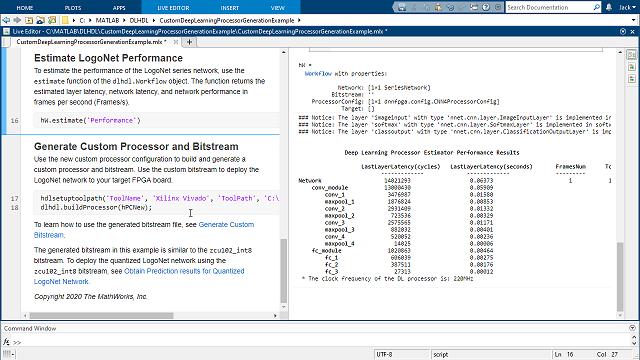 自定义深度学习处理器的 FPGA 实现并生成可合成的 RTL。