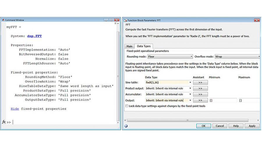 定点数据类型的 FFT 属性