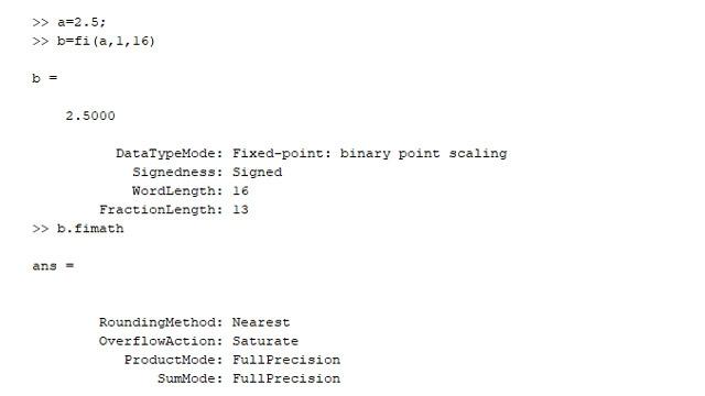 指定某个定点数据类型及其全部属性,例如舍入模式。