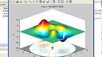 找到 peaks 函数的局部和全局极小值。
