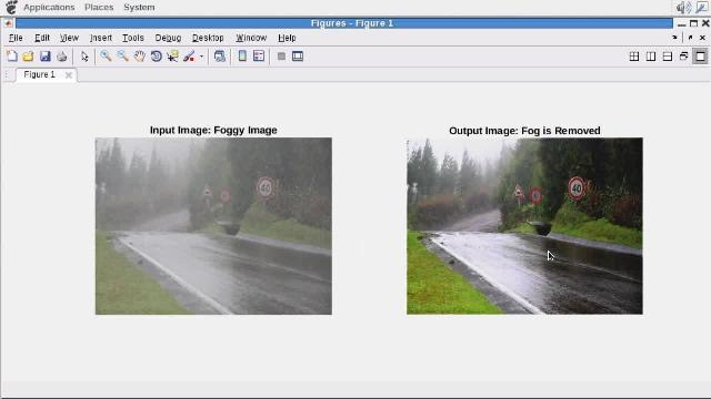 使用 GPU Coder,根据在 MATLAB 中编写的雾校正算法生成 CUDA 代码。