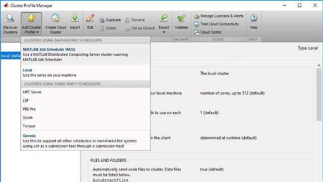 将集群配置文件添加到 MATLAB,以允许访问可用的集群资源。