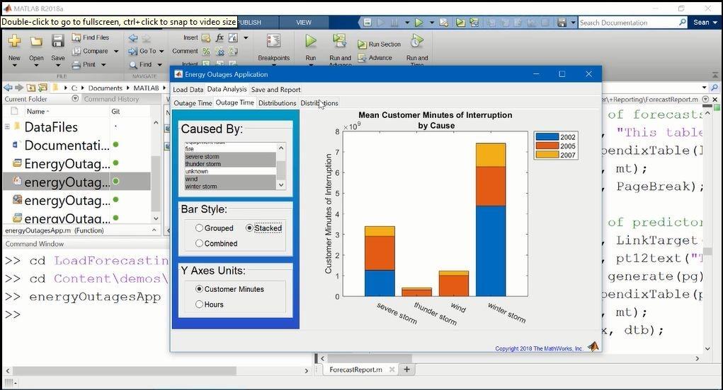 此视频介绍 MATLAB Report Generator。该视频首先展示一个使用自动报告生成功能的应用示例。该视频还介绍了使用 MATLAB 代码生成报告的简单示例,以及两个其他示例,包括使用模板时如何报告。