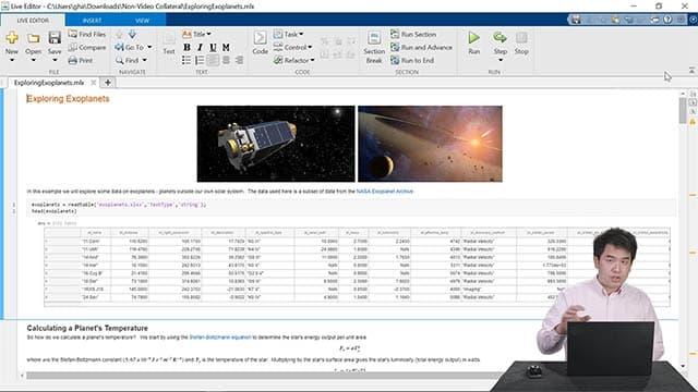 现场演示实时编辑器功能,包括创建 notebook、与他人分享成果,以及更快地编写代码。