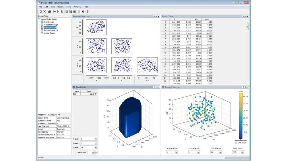 使用设计编辑器定义空间填充计,并研究设计属性。