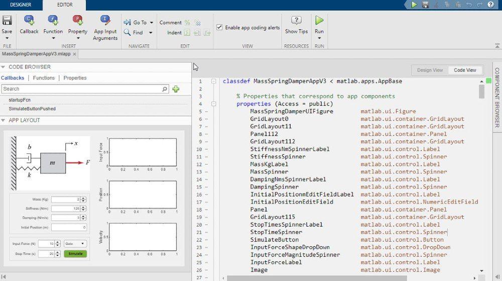 使用 App 设计工具为仿真应用程序设计图形 UI