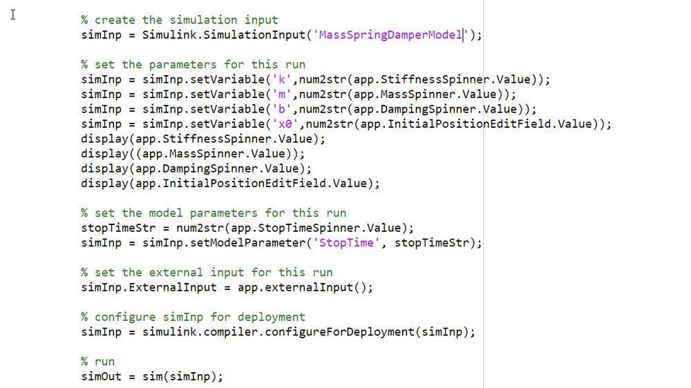 使用 SimulationInput 对象定义仿真输入和参数。