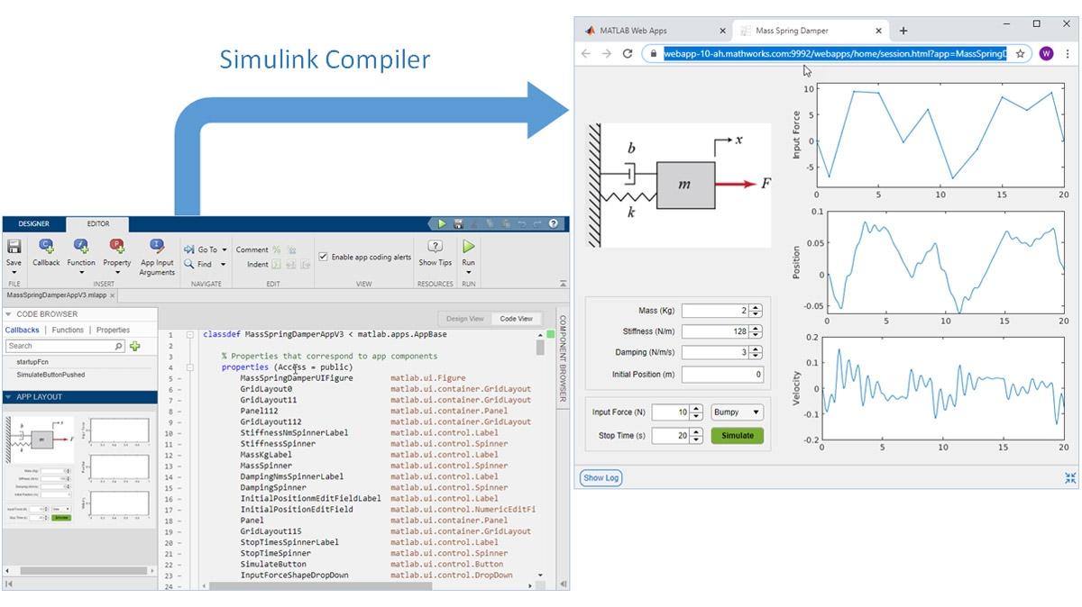 将 MATLAB App Designer 创建的应用程序封装为 Web 应用程序。