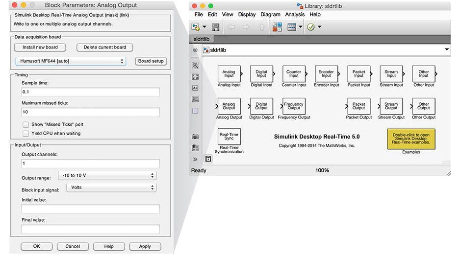 Simulink Desktop Real-Time 模块库。
