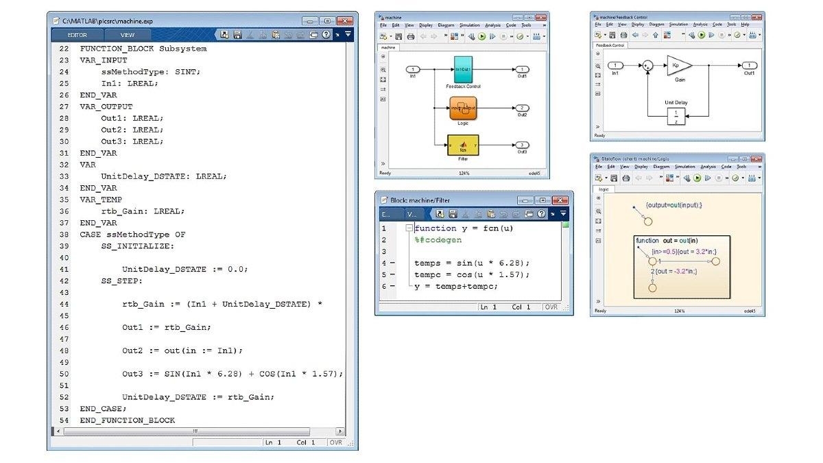 优化的结构化文本示例。Simulink PLC Coder 为 Simulink、Stateflow 和 MATLAB 函数生成经过优化、集成良好的代码。