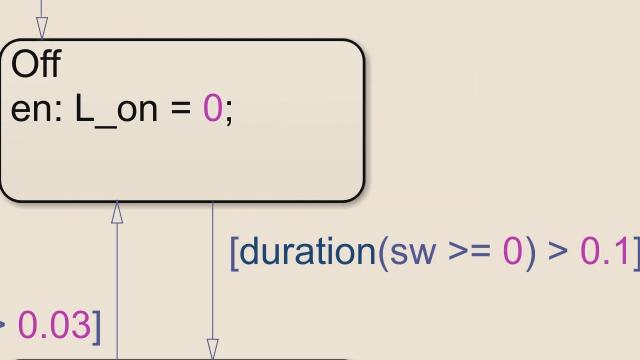在 Stateflow 中使用持续时间和消耗时间运算符更简明地表示状态机逻辑。