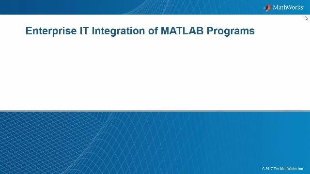使用 MATLAB Production Server,可以可靠地扩展 MATLAB 应用程序的部署并可集中管理多个版本的 MATLAB 程序及运行时。