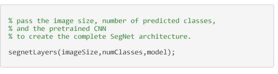 语义分割 - 用来创建 SegNet 架构的代码