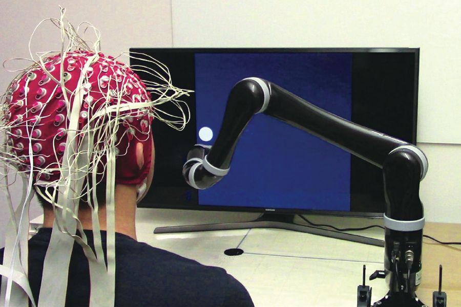 无损式脑机接口 (BCI)。图片所有权:卡耐基梅隆大学