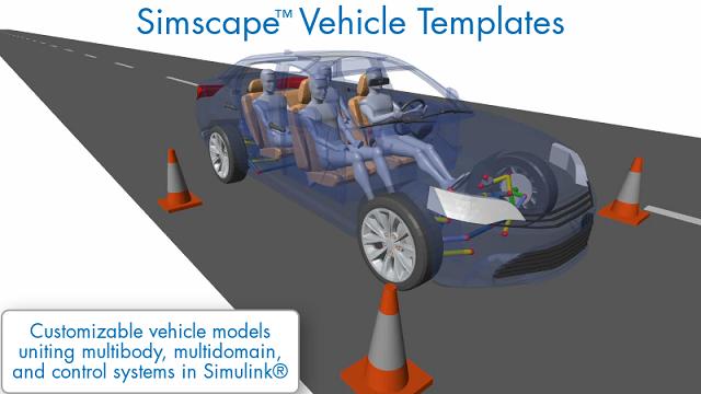 了解 Simscape 车辆模板提供的可自定义车辆模型,以及如何将其用于各种车辆设计任务。