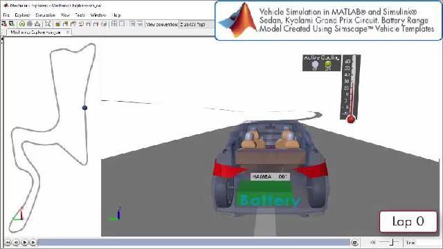 观看 Simscape 动力总成设计仿真的动画演示。
