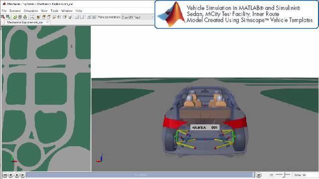 观看 Simscape 自动驾驶仿真的动画演示。