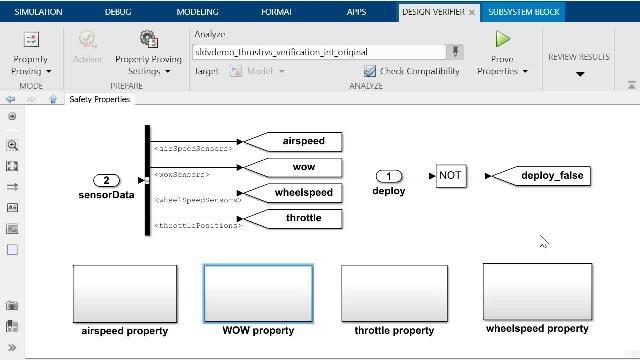 了解如何使用 Simulink Design Verifier 执行属性证明,并了解如何使用 Simulink Check 中的模型分块器工具调试自动生成的反例。