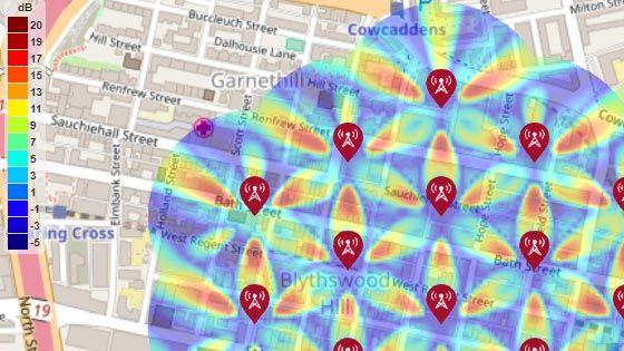5G 城市宏单元测试环境的 SINR 地图