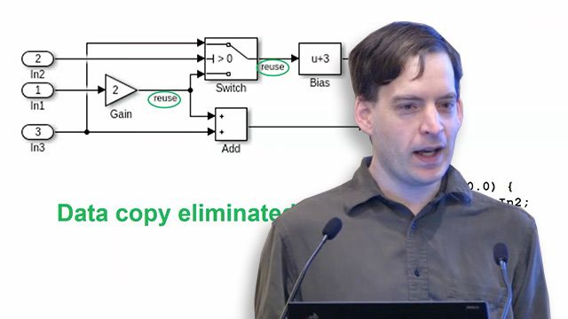 Hear how Embedded Coder supports automatic data buffer reuse, user-specified reuse, and starting in R2018a, an intuitive user-suggested data reuse option that minimizes unnecessary data copies in generated code.