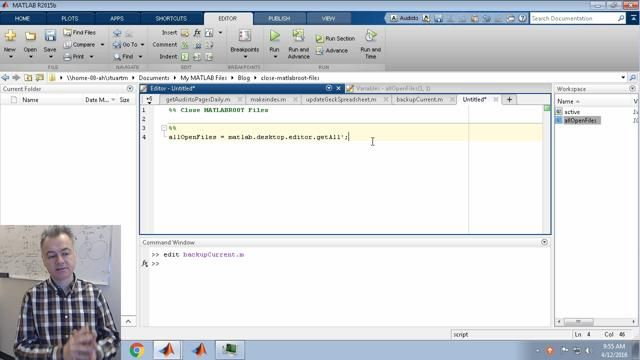 Here, I write a utility that clears out files open in the editor that are located in the MATLAB installation directory.