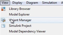 Configure and manage variant systems in Simulink