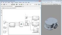 Develop and simulate a collision avoidance algorithm with the CAD model of an Adept mobile robot in Simulink. Then you can seamlessly test the algorithm on the real robot by using the same Simulink model without re-implementing the algorithm.