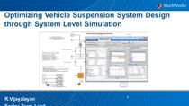 Optimization of vehicle ride and handling performance must meet many competing requirements. For example, vibration in the frequency range that causes driver discomfort needs to be minimized, which requires decreasing suspension stiffness. Yet the su