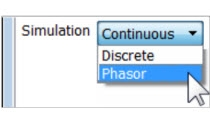 Choose simulation mode (continuous, discrete, or phasor) using SimPowerSystems. Analyze transient effects and magnitudes of circuit voltages.