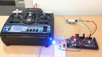 Program an Arduino Mega 2560 using Simulink to receive the signals from an R/C receiver. Relevant Simulink blocks can be downloaded from MATLAB File Exchange.