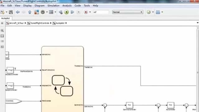 学习如何建模和仿真飞行控制系统的Simulink和Stateflow的。